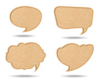 Speech bubbles from Recycle Paper Stock Photography