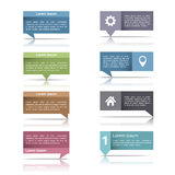 Speech Bubbles with Reflection Royalty Free Stock Images