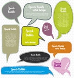 Speech bubbles retro design Royalty Free Stock Images
