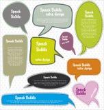 Speech bubbles retro design Royalty Free Stock Images