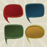 Speech bubbles retro Stock Photo