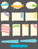 Speech Bubbles with Ribbons. A set of Speech Bubbles with banners and ribbons. Easy to edit royalty free illustration
