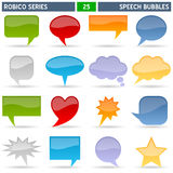 Speech Bubbles - Robico Series. Collection of 16 colorful speech bubbles icons, isolated on white background. Robico Series: check my portfolio for the complete Stock Images