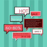 Speech bubbles-sale icons Stock Photo