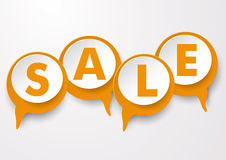 Speech Bubbles Sale. Orange speech bubbles with text SALE. Eps 10  file Stock Photos