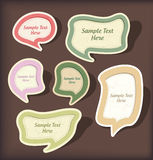 Speech bubbles  scrapbook set Royalty Free Stock Photos