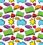 Speech bubbles seamless colorful pattern vector illustration