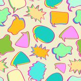 Speech Bubbles Seamless Pattern Royalty Free Stock Photography