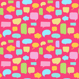 Speech bubbles seamless pattern Stock Images
