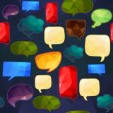 Speech bubbles seamless pattern Stock Photo