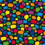 Speech Bubbles - Seamless Vector Stock Image