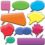 Speech Bubbles Set Stock Photos