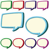 Speech bubbles set Royalty Free Stock Photos