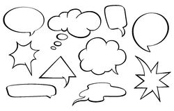 Speech bubbles set. Collection of various speech bubbles stock illustration