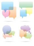 Speech bubbles set. Colorful speech bubbles set on white vector illustration