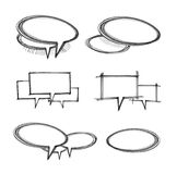 Speech bubbles set. Sketch of the speech bubbles set Royalty Free Stock Photo