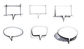 Speech bubbles set. Sketch of the speech bubbles set Royalty Free Stock Image