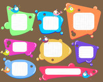 Speech bubbles set, color Royalty Free Stock Image