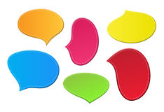 Speech bubbles. Set of colored paper speech bubbles. EPS10 Royalty Free Stock Images