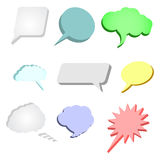 Speech bubbles set. 3d speech bubbles vector illustration Royalty Free Stock Images