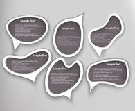 Speech Bubbles Set Design Element Stock Images