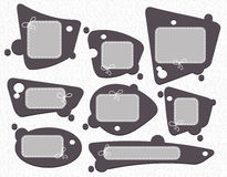 Speech bubbles set, gray Stock Images