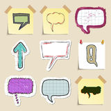 Speech bubbles set. Hand drawn and isolated Stock Photo