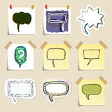 Speech bubbles set. Hand drawn and isolated Stock Photography