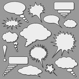 Speech bubbles set. Stock Photography