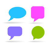 Speech bubbles set Stock Photo