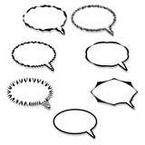 Speech bubbles set Royalty Free Stock Image