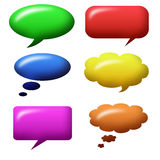 Speech bubbles set Stock Image