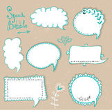 Speech bubbles set.Retro speech bubbles on the grungy background. Vector Illustration. Royalty Free Stock Photography