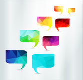 Speech Bubbles Set triangle abstract vector color Stock Photography