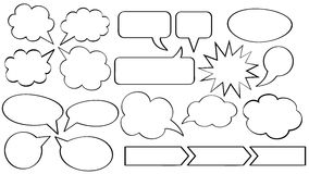 Speech bubbles. Set of vector speech bubbles stock illustration