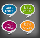 Speech bubbles set vector illustration Royalty Free Stock Images