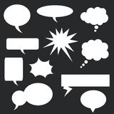 Speech bubbles set Royalty Free Stock Photo
