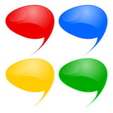 Speech bubbles. Set on white Stock Photos