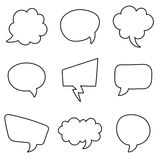 Speech bubbles set on a white background. Vector illustration Royalty Free Stock Photos