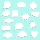 Speech bubbles with shadow set. Vector illustration Stock Photos