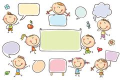 Speech Bubbles and Signs vector illustration