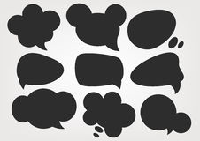 Speech Bubbles silhouette sets Royalty Free Stock Images