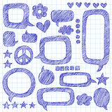 Speech Bubbles Sketchy Notebook Doodles Vector Royalty Free Stock Photos