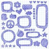 Speech Bubbles Sketchy Notebook Doodles Vector. Speech Bubbles Sketchy Doodle Set- Back to School Hand-Drawn Notebook Doodles Vector Illustration Design Elements vector illustration