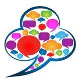 Speech bubbles social media Stock Image
