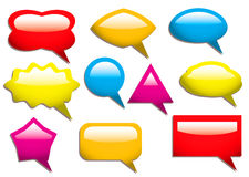 Speech bubbles solid Stock Photography
