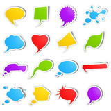 Speech bubbles stickers Royalty Free Stock Photos