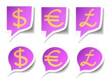 Speech bubbles with symbol money Royalty Free Stock Image
