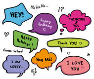 Speech bubbles talk set Stock Image