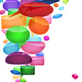 Speech bubbles of traditional and original forms. Stock Image